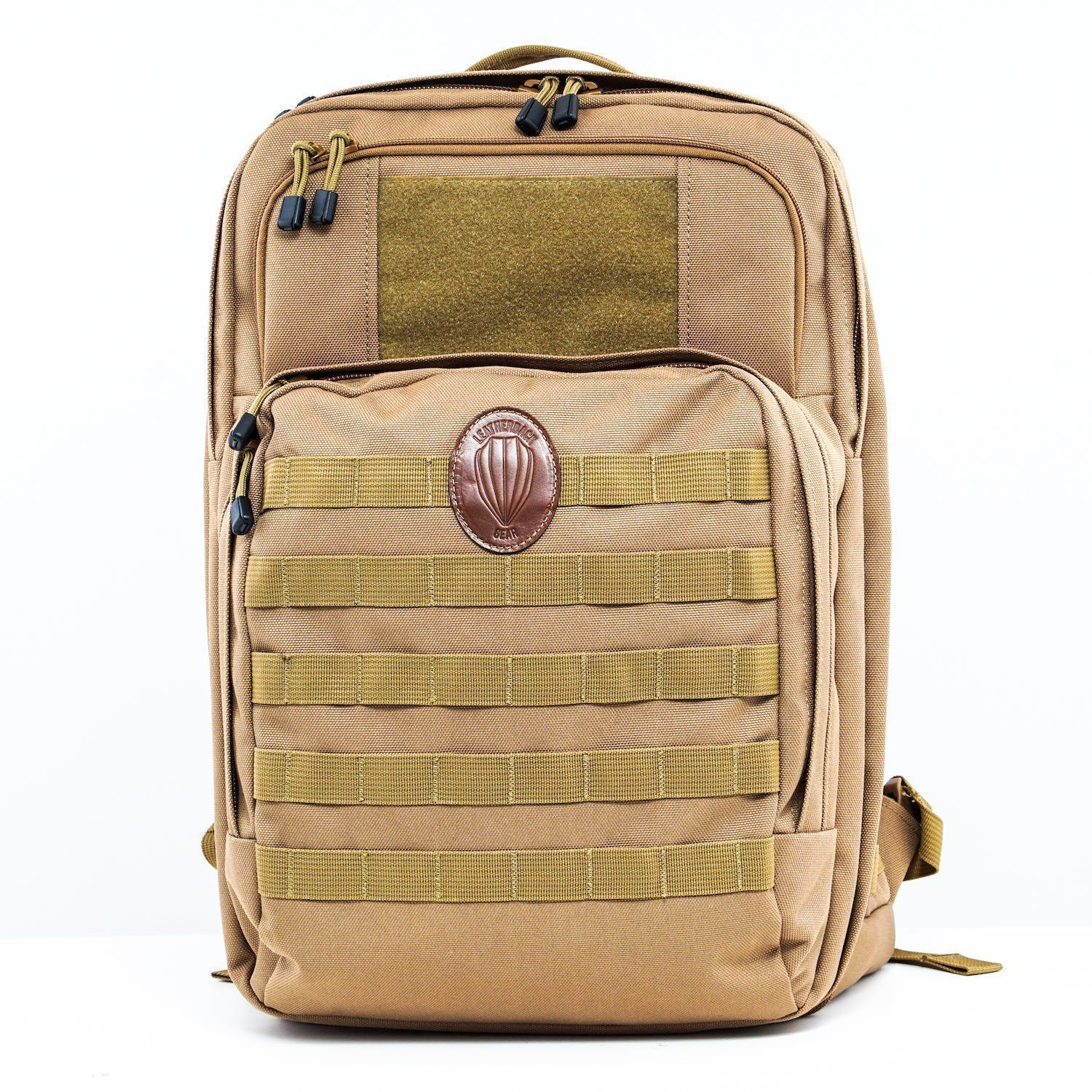 Tactical One Bulletproof Backpack Leatherback Gear Coyote Tan Two Panels