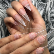 Clear Pre Pinched Stiletto Nail Tips 500pcs