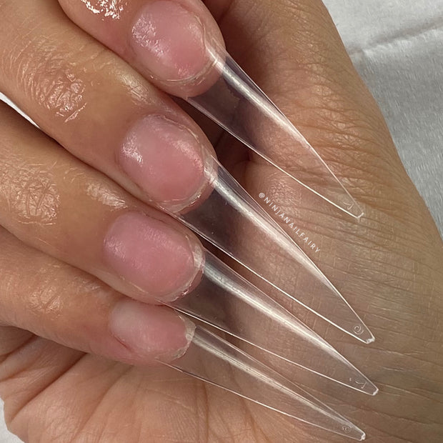 Easy tips Clear - Long Stiletto Nail tips 500pcs
