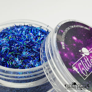 Blue Holographic Tinsel