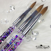 Galaxy Aqua Acrylic Nail Brush  #12