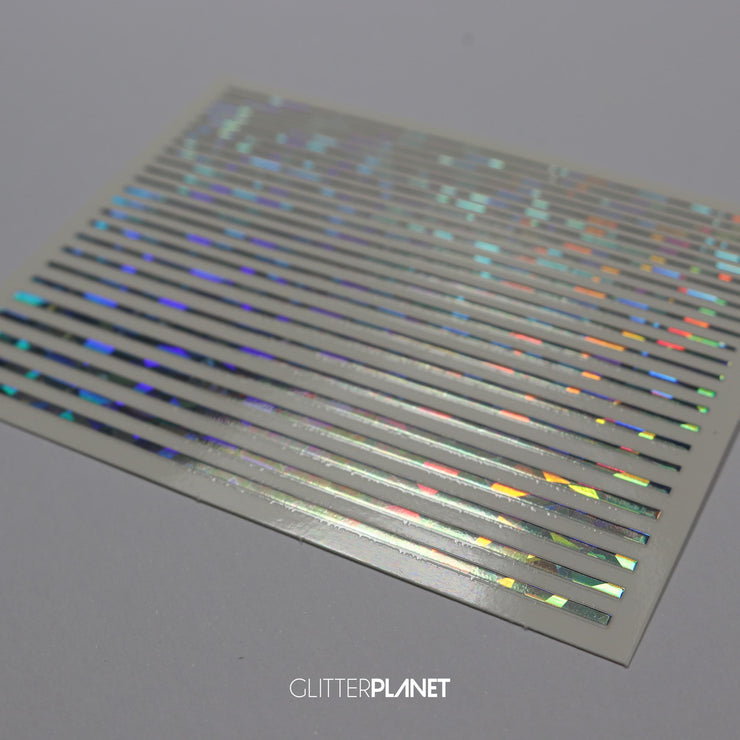 Holographic Stripe Nail Art Sticker