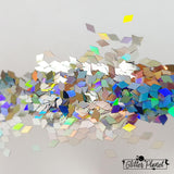 Silver Holographic Diamond - 2mm