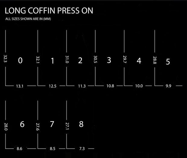 Long Coffin - Press On Nails