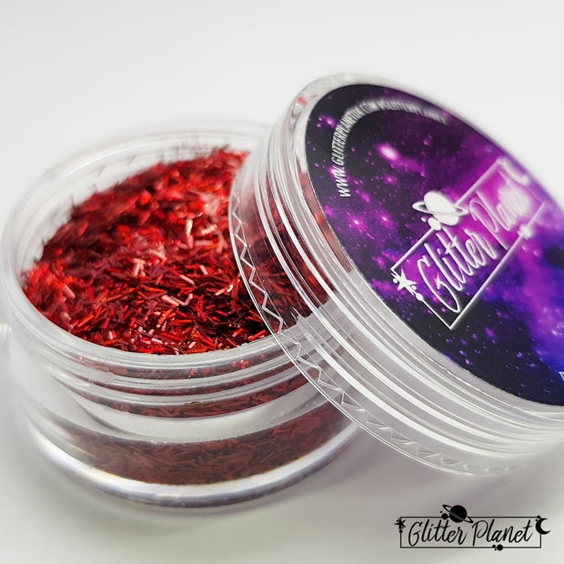 Red Holographic Tinsel