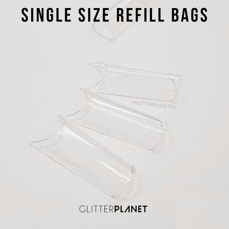 Refill Pre Pinched Square Nail Tips