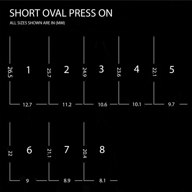 Short Oval - Press On Nails