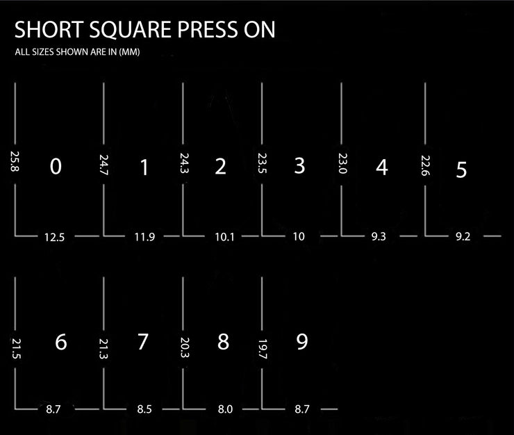Short Square - Press On Nails