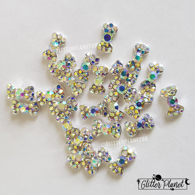 Nail Charm - Crystal AB Small Bow