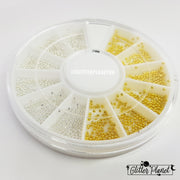 Nail Art Wheel 1 - Gold and Silver mini Beads