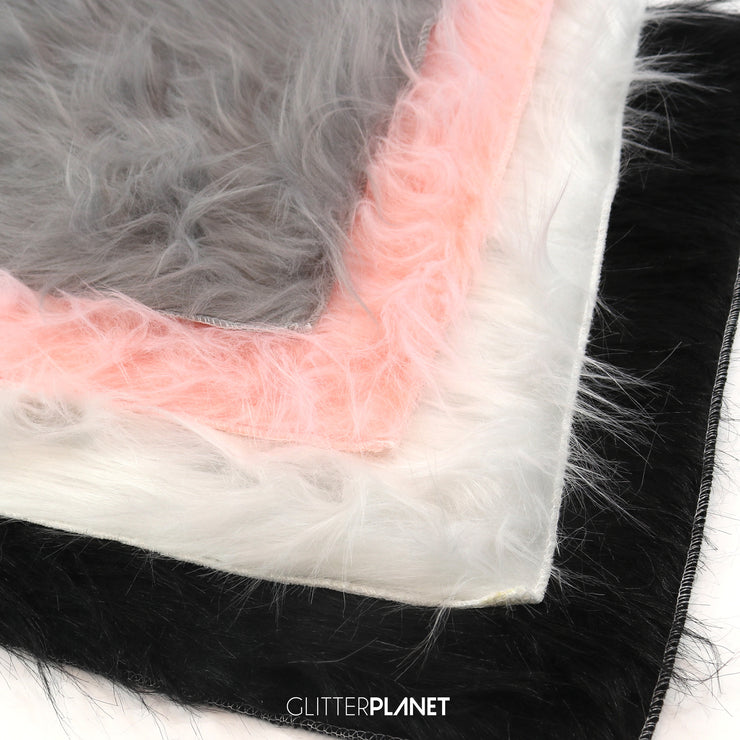 Pink Faux Fur Background