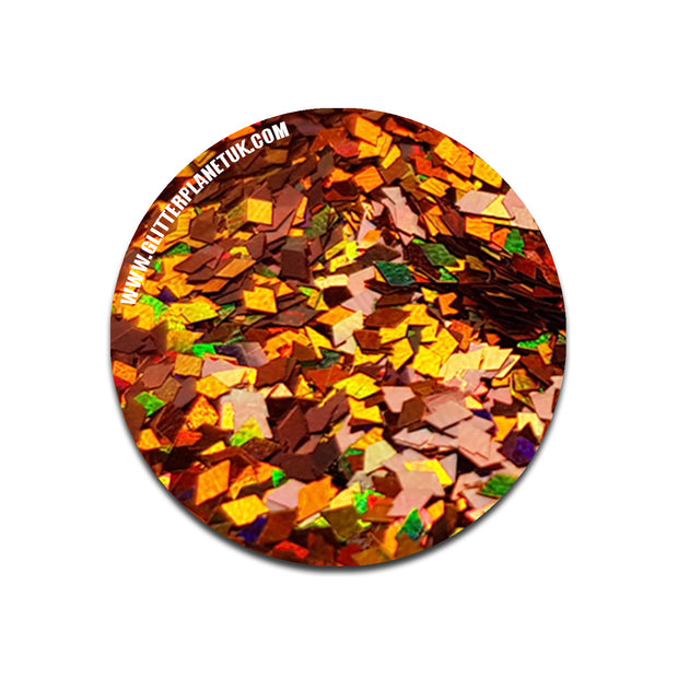Burnt Orange Holographic Diamond - 1mm