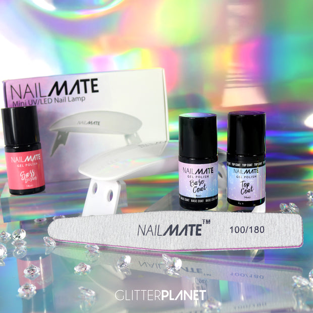 Gel Polish Starter Kit & Mini 6W LED/UV Lamp + FREE COLOUR