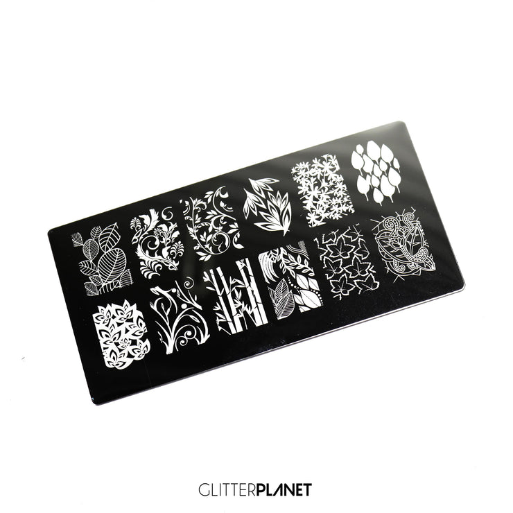 Leafy Stamping plate