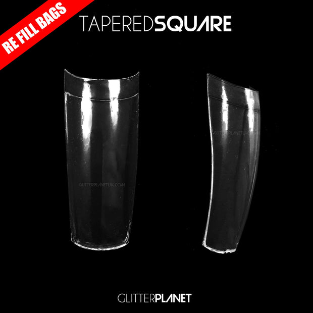 Tapered Square Nail Tips - Single Size Refill Bags