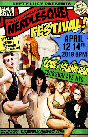 Saturday, April 13, 2019 - 8pm-11pm - The 5th International Nerdlesque Festival General Admission Ticket