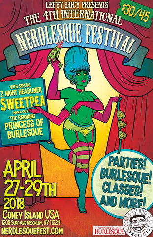 April 28, 2018 Nerdlesque Festival VIP Admission