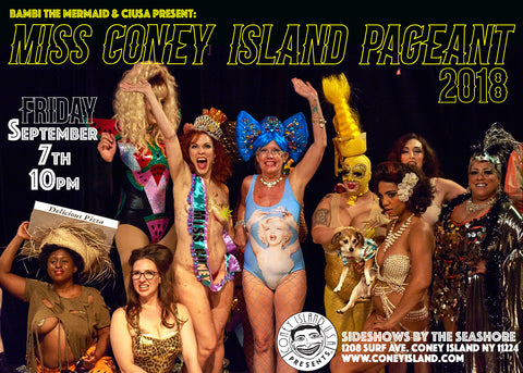 Friday - September 7, 2018 - 10pm - 2018 Miss Coney Island Pageant - Freak Bar Live Simulcast Seat