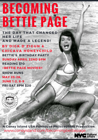 Sunday, April 22, 2018 - 6pm - Becoming Bettie Page First Glance Reading