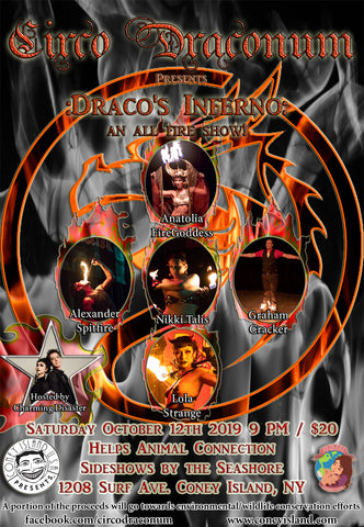 Circo Draconum Presents: Dracos Inferno: An All Fire Show! - Saturday - October 12, 2019 - 9pm