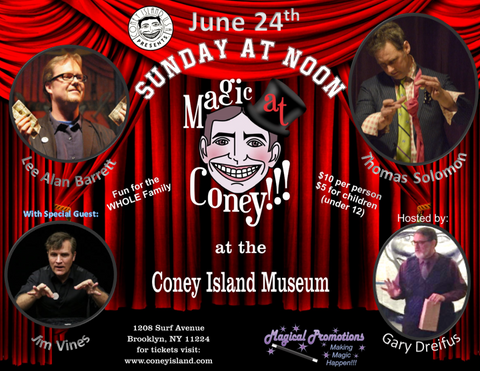 Sunday, June 24, 2018, Magic at Coney - Kids Ticket