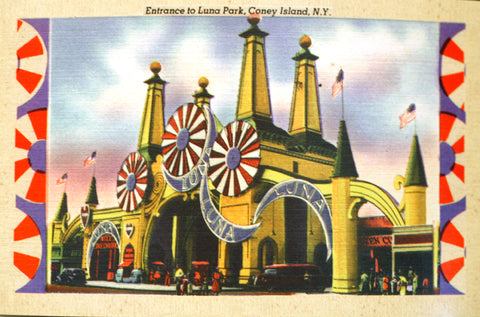 Postcard - Entrance to Luna Park