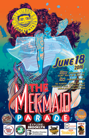 Poster - 2016 Mermaid Parade