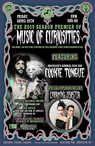 Friday - April 19, 2019 - 9pm - The 2019 Season Premiere of MUSIC OF CURIOSITIES