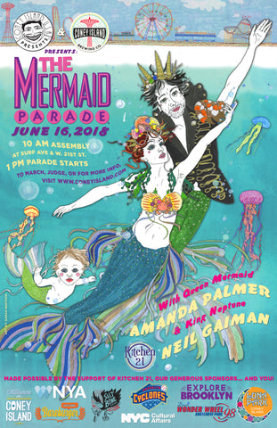 Poster - 2018 Mermaid Parade