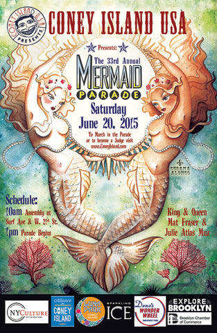 Poster - 2015 Mermaid Parade