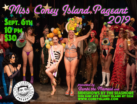 2019 Miss Coney Island Burlesque Beauty Pageant Freak Bar Live Video Simulcast Seat - Friday - September 6, 2019 - 10pm