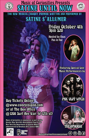 "Music Of Curiosities Presents: ""Satine Until Now"" - Friday - October 4, 2019 - 9pm"