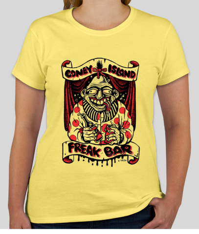 T-Shirt - Freak Bar Women Yellow
