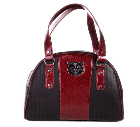 Purse - Red+Black Cat