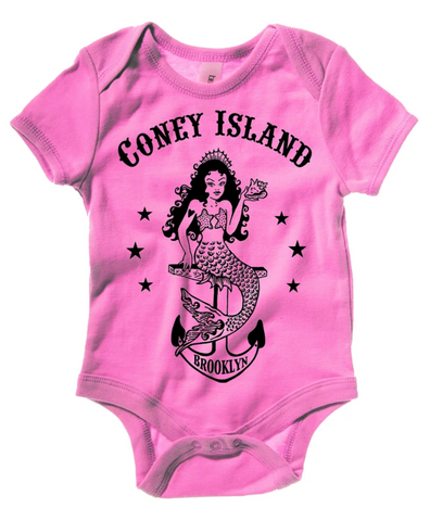 Onesie - Coney Mermaid Pink