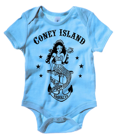 Onesie - Coney Island Mermaid Baby Blue