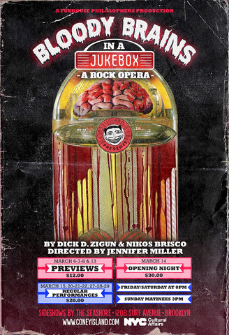 Bloody Brains in a Jukebox - Sunday - March 15, 2020 - 3pm