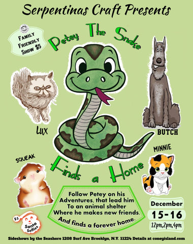 Sunday, December 16, 2018 - 4pm - Petey the Snake Finds a Home