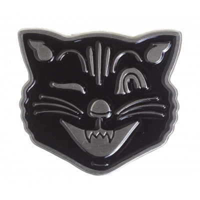 Enamel Pin - Black Cat Face