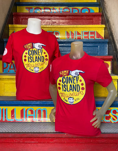 T-Shirt - Coney Island Museum - Unisex Red