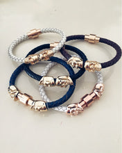 Magnetic Skull Leather Bracelet