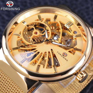 Forsining Fashion Luxury Super Thin Mechanical Skeleton Watch-Vici Tempus