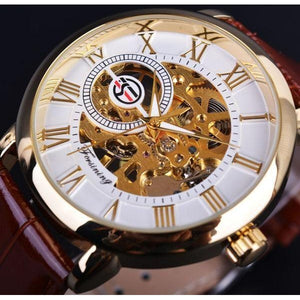 Forsining Mechanical Skeleton  Watch With Leather Strap - Vici Tempus