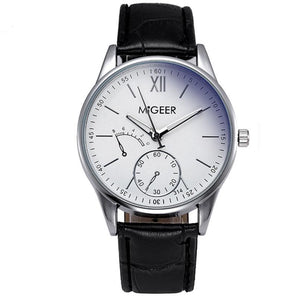 MiGeer Quartz Business Watch With Leather Strap - Vici Tempus