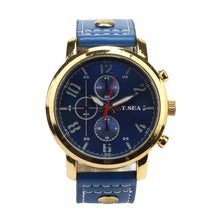 Nautical Luxury Leather Wristwatch - Vici Tempus
