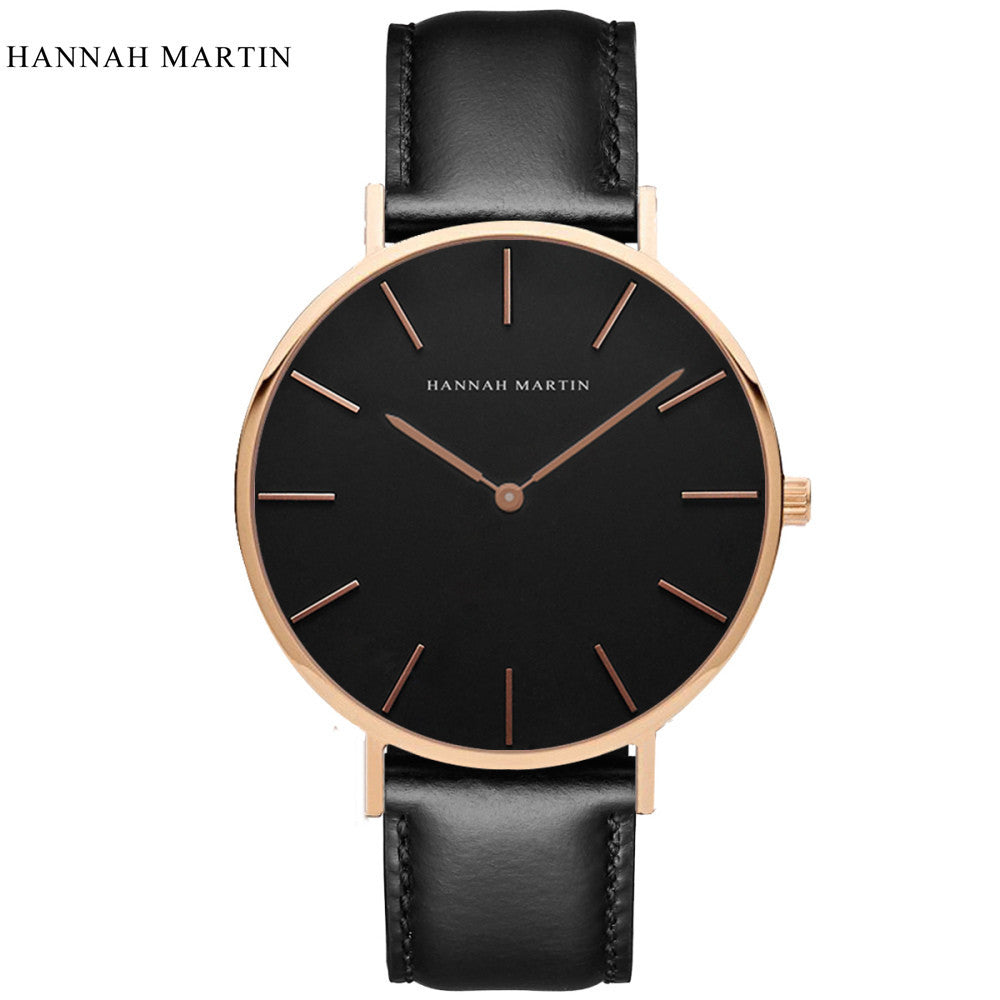 Hannah Martin Luxury Leather Wrist Watch - Vici Tempus