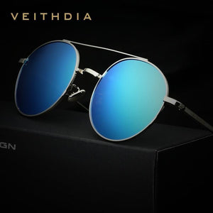 VEITHDIA Luxury Round Retro Sunglasses - Vici Tempus