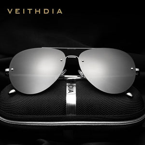 VEITHDIA Rimless Polarized Sunglasses - Vici Tempus