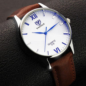 Yazole Quartz Luxury Business Watch With Leather Strap-Vici Tempus