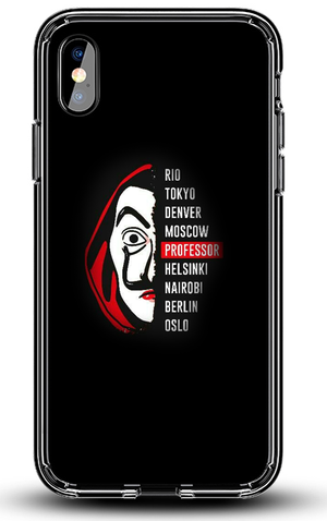 Husă iPhone  La Casa de Papel Mască + Text